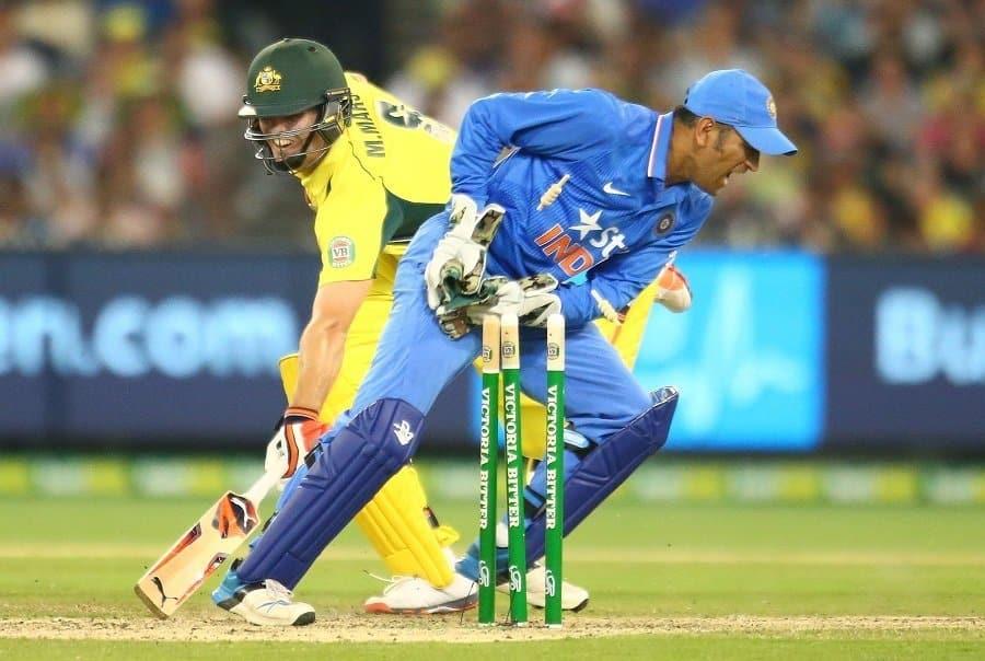 MS Dhoni stumping vs Australia